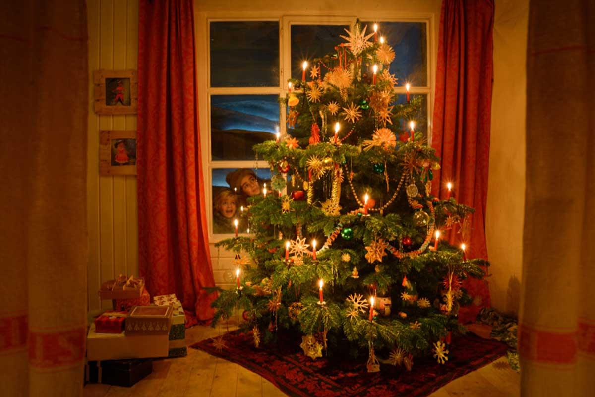 Der Weihnachstbaum schmückt sich von selbst